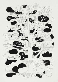 by Klas Herbert Sketch Painting, Drawing Sketches, Drawings, Sketching, Design Graphique, Art Graphique, Art Design, Graphic Design, Pattern Illustration