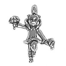 Sterling Silver small cheerleader charm  http://www.halolujah.com