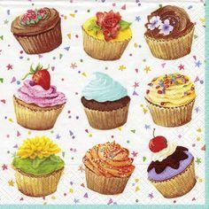 Cupcakes Lunch Napkins - General Birthday Themes - Birthday PlatesAndNapkins.com
