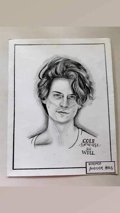 Cole Sprouse Riverdale Wallpaper, How To Drow, Cole Spouse, Riverdale Aesthetic, Art Sketches, Doodles, My Arts, Mood, Portrait