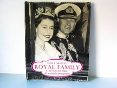 Vintage calendar, queen calendar, 1960's, Royal calendar, queen mother, royal family. Edward Viii, Vintage Calendar, Family Calendar, Queen Mother, Princess Margaret, Westminster Abbey, King George, Magpie, Cottage Chic