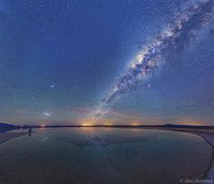 Magellanic cloud and Milky Way over the Atacama salt flats by...