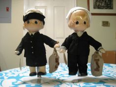 A Pair of Sailor Precious Moments Doll Collections Precious Moments Dolls, Statues, Sailor, Collections, Pairs, In This Moment, Ebay, Effigy, Nautical