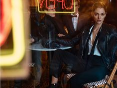 Anna Selezneva wears leather jackets to little black dresses and bohemian inspired prints Pose for Massimo Dutti launches its evening 2015 collection Photoshoot