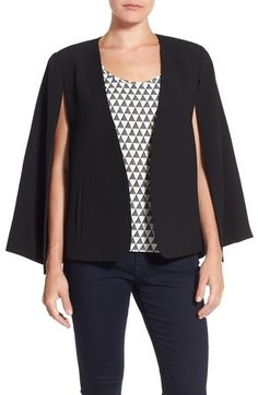 Vince Camuto Kiss Front Cape (Regular & Petite) available at #Nordstrom