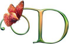 Alfabeto Decorativo: Alfabeto - Borboleta - PNG