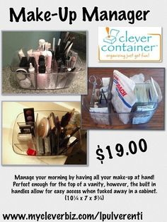 Clever Container's Make-Up Manager www.mycleverbiz.com/lpulverenti