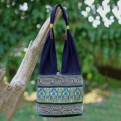 shoulder bag, 'Spring Green Thai' Thailand