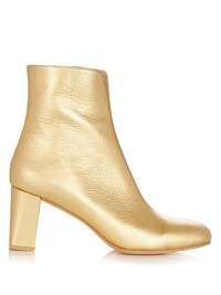 Agnes metallic leather ankle boots