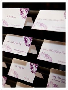Unique Place Card Displays | for some unique ways to display your place cards and escort cards ...