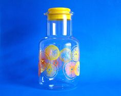 Retro Pyrex Oranges & Lemons Juice Carafe or Jug  by FunkyKoala