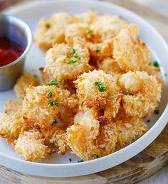 Crevettes popcorn au parmesan