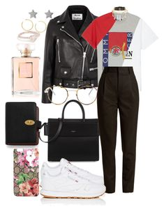 """""""Untitled #1551"""" by veronice-lopez ❤ liked on Polyvore featuring Acne Studios, Givenchy, Reebok, Yves Saint Laurent, Vetements, Gucci, Mulberry, Chanel, Shay and BaubleBar"""