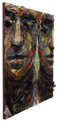 UNTITLED m964 - Oil paint on stretched canvas of 20 by 16 by 3/4 in.(50.8 cm by 40.6 cm by 1.9 cm) Catalogue Reference: m964 2016