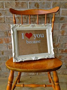 8x10 I Love You Because Dry Erase Board White Ornate by amynelly, $28.00