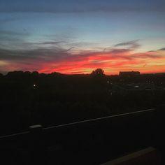 Living on the 6th floor has its perks  #sunset #sky #orange #flat #apartment #floor #utrecht