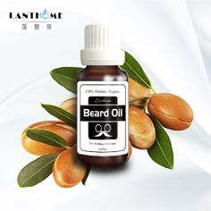 Lanthome Natural Organic Beard Oil Leave-In Conditioner for Groomed Beard Growth