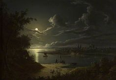 Moonlight Scene by Sebastian Pether Victoria Art Gallery Date painted: 1819