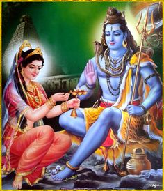 According to legend, Maha Sakthi or the divine Mother came to earth in the manifestation of Goddess Parvathi as she wanted to marry Lord Shiva. Shiva Parvati Images, Hanuman Images, Mahakal Shiva, Shiva Art, Krishna Krishna, Radha Krishna Photo, Hare Krishna, Lord Ganesha Paintings, Lord Shiva Painting