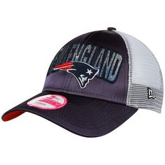 New Era New England #Patriots Women's Navy Truck Shine 9forty Adjustable Hat from $24.99
