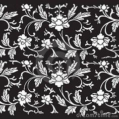 Vintage floral damask scrapbook background by Jodielee, via Dreamstime
