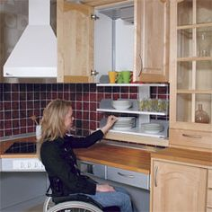 1000 images about disabled on pinterest wheelchairs for Kitchen design for wheelchair user