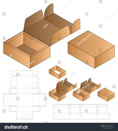 Box Packaging Die Cut Template Design เวกเตอร์สต็อก (ปลอดค่าลิขสิทธิ์) 1566465616 Box Packaging, Packaging Design, Die Cut, Royalty Free Stock Photos, Templates, Studio, Art, Wrapping, Headscarves
