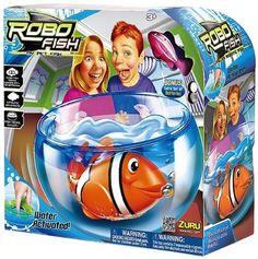 Robo poisson aquatique Toy robotique Avec Aquarium Réservoir PLAY SET eau Robot Activé