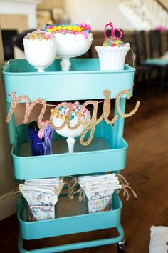 Cart full of Beads | Unicorn Birthday Party Decorations + Party Favors | by…
