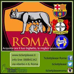 """BIGLIETTI ROMA - BARCELLONA 16/09/2015 La Champions League nuovamente a Roma, seguila gustandoti l'esclusività della miglior posizione. http://ticketplease.it/sport/47-roma-vs-barcellona.html info line: 068841342 info@ticketplease.it  www.ticketplease.it Vieni a trovarci presso """" TICKETPLEASE"""" via Viterbo n.6, Roma #ROMA #CURVASUD @OfficialASRoma #ASROMA #GARCIA #Totti  @FCBarcellonaIT #Barcellona @messi10stats @ChampionsLeague"""