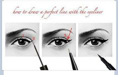 How to draw a perfect line with the eyeliner