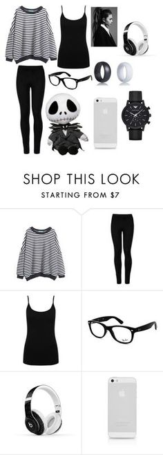 """""""Lazy Day"""" by hayleyhudson62 on Polyvore featuring Wolford, M&Co, Ray-Ban, Beats by Dr. Dre and Emporio Armani"""