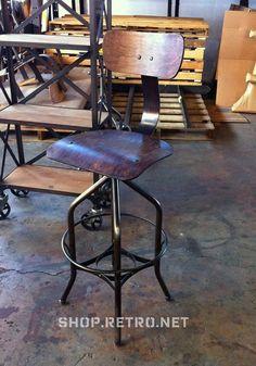 Antique Industrial Toledo Reproduction Bar by VintageIndustrial