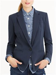 J. Crew - Japanese Crepe Blazer: It is a great 3-season fabric that has a beautiful drape to it.