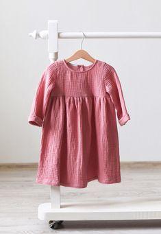 Organic Cotton Gauze Baby Toddler Dress   TsiomikKids on Etsy