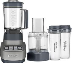 Cuisinart - Velocity Ultra Trio 56-Oz. Blender/Food Processor - Gunmetal (Grey)