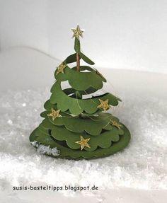 Thursday, December 10, 2015 Susi's Basteltipps: Oh Tannenbaum - a Christmas tree instead of Rose - Spiral Flower becomes Christmas tree http://susis-basteltipps.blogspot.com/2015/12/oh-tannenbaum-ein-weihnachtsbaum-statt.html