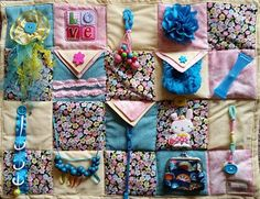sewing weighted blanket Some Bunny Loves Me Fidget Blanket - Fidget Quilt for Alzheimers, Dementia, Stroke and Nursing Home patients - Lap Blanket, Weighted Blanket, Sensory Blanket, Fidget Blankets, Fidget Quilt, Easy Sewing Projects, Sewing Tips, Sewing Ideas, Etsy Seller