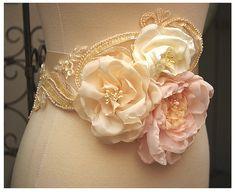 Handmade Silk Organza flowers by Bellafaye, via Flickr