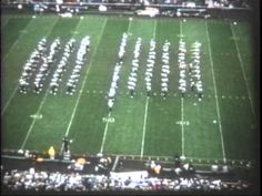 University of California Marching Band (UC Berkeley) football halftime show at the University of Iowa, September 30, 1961. Film transfer sponsored by Mike Flier for the Cal Band Alumni Association.