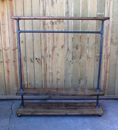 "55"" ""Georgia"" clothing rack, garment rack, store fixture"
