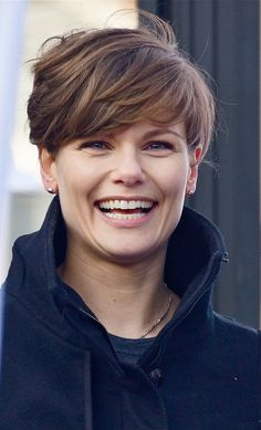 Short hair, Dutch actress Angela Schijf