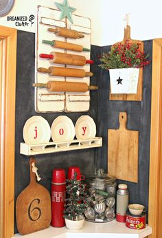 Farmhouse Christmas Kitchen Displays organizedclutter.net