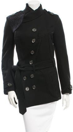 Tim Van Steenbergen Suede-Trimmed Wool Coat Wool Coat, Van, Stylish, Leather, Jackets, Tops, Women, Fashion, Down Jackets