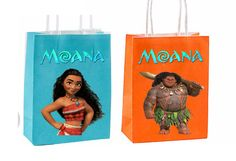 New years sale Moana Party Favor Bag Printable by GoldMimeDesigns