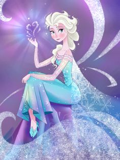 "Elsa fanart of the Disney movie ""Frozen"""