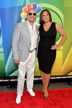 Ice-T and Mariska Hargitay attend The 2015 NBC Upfront Presentation at Radio City Music Hall on May 11, 2015 in New York City