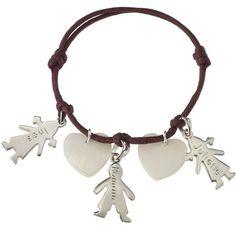 Bracelet Chérubins (argent massif et nacre) Petits Trésors