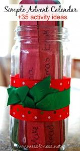 MOM Tip: Advent Jar with Christmas Activities #247moms