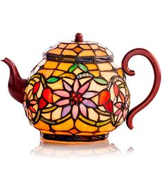 Stained Glass Teapot Accent Lamp Tiffany Style Tea Pot Kettle Private Label http://www.amazon.com/dp/B000MOFFJK/ref=cm_sw_r_pi_dp_9VbXwb0NGQ8F5